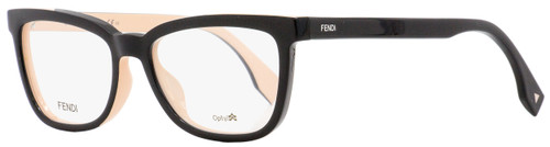Fendi Rectangular Eyeglasses FF0122 MG1 Black/Pink 51mm 122
