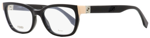 Fendi Rectangular Eyeglasses FF0130 29A Shiny Black 51mm 130