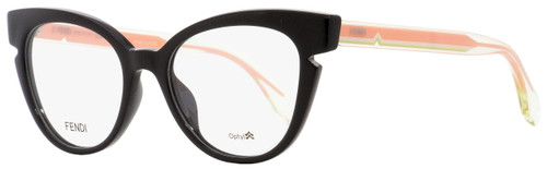 Fendi Cateye Eyeglasses FF0134 N7A Black/Crystal/Pink 50mm 134