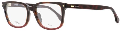 Fendi Rectangular Eyeglasses FF0220 21C Havana/Red 52mm 220