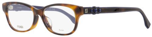 Fendi Rectangular Eyeglasses FF0281F 086 Dark Havana/Blue 52mm 281