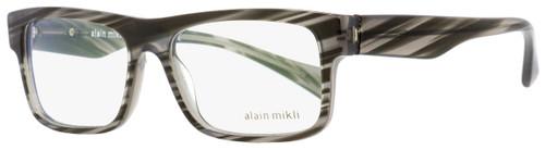 Alain Mikli Rectangular Eyeglasses A03046 B017 Gray Brush/Noir 54mm 3046