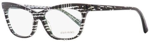 Alain Mikli Rectangular Eyeglasses A03059 2751 Black Damier 54mm 3059