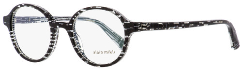 Alain Mikli Oval Eyeglasses A03064 B0F6 Crystal Black 47mm 3064