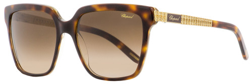 Chopard Rectangular Sunglasses SCH208S 091Z Havana/Gold 56mm 208