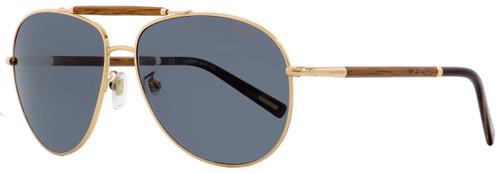 Chopard Aviator Sunglasses SCHB36V 8FCP Copper Gold/Mahogany Polarized 60mm B36