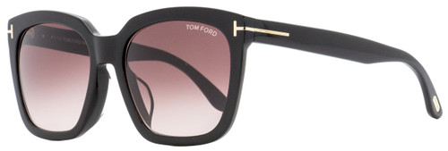 Tom Ford Square Sunglasses TF502F Amarra 01T Black 55mm FT0502