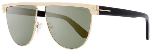 Tom Ford Oval Sunglasses TF570 Stephanie-02 28C Gold/Black 60mm FT0570