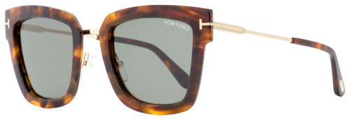 Tom Ford Square Sunglasses TF573 Lara-02 55A Gold/Havana 52mm FT0573