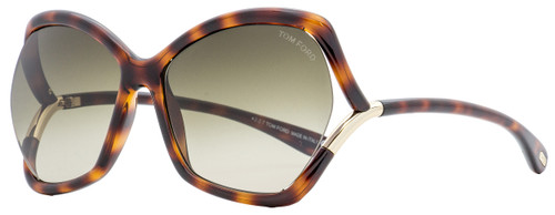 Tom Ford Butterfly Sunglasses TF579 Astrid-02 53K Blonde Havana  61mm FT0579