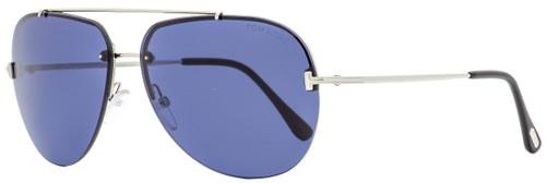 Tom Ford Aviator Sunglasses TF584 Brad-02 16V Palladium/Black 63mm FT0584