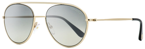 Tom Ford Aviator Sunglasses TF599 Keith-02 28C Gold/Black 55mm FT0599