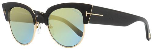 Tom Ford Cateye Sunglasses TF607 Alexandra-02 05X Black/Gold 51mm FT0607