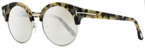 Tom Ford Round Sunglasses TF608 Alissa-02 56G Tortoise 54mm FT0608