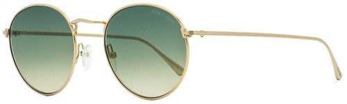 Tom Ford Oval Sunglasses TF649 Ryan-02 28P Gold 52mm FT0649