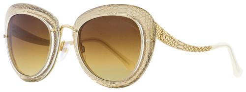 Roberto Cavalli Oval Sunglasses RC918S-A Nekkar 26F Gold/Clear 51mm 918
