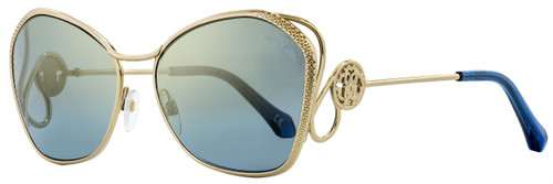 Roberto Cavalli Butterfly Sunglasses RC1062 Gavorrano 32X Gold/Blue 58mm 1062