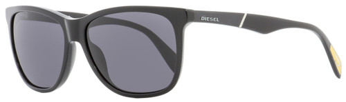 Diesel Rectangular Sunglasses DL0222 01A Shiny Black   57mm 222