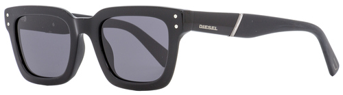 Diesel Rectangular Sunglasses DL0231 01A Black 51mm 231