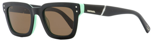 Diesel Rectangular Sunglasses DL0231 05J Black/Green 51mm 231