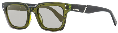 Diesel Rectangular Sunglasses DL0231 95Q Transparent Green/Black 51mm 231