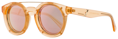 Diesel Oval Sunglasses DL0251 72Z Transparent Peach 49mm 251