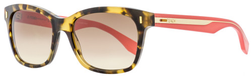 Fendi Rectangular Sunglasses FF0086S HK3D8 Honey Havana/Cherry 53mm 86