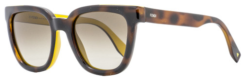 Fendi Square Sunglasses FF0121S MFRHA Havana/Ochre 51mm 121