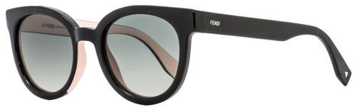 Fendi Oval Sunglasses FF0150S U6WVK Black/Pink 51mm 150