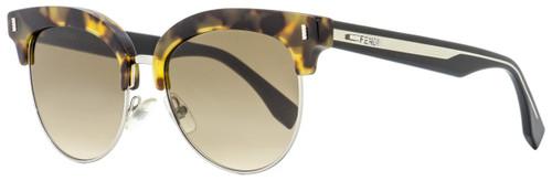 Fendi Oval Sunglasses FF0154S UDSJD Havana/Black 54mm 154