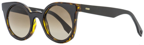 Fendi Round Sunglasses FF0196S LC1HA Havana/Brown 48mm 196