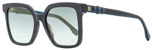 Fendi Square Sunglasses FF0269S KB7EZ Dark Gray/Turquoise 54mm 269