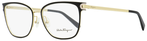 Salvatore Ferragamo Rectangular Eyeglasses SF2150 017 Black/Gold 53mm 2150