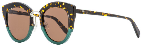 Salvatore Ferragamo Butterfly Sunglasses SF830S 220 Tortoise/Green 48mm 830