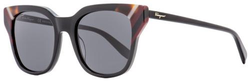 Salvatore Ferragamo Square Sunglasses SF875S 001 Black/Multi 53mm 875