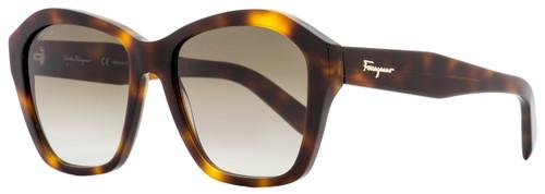 Salvatore Ferragamo Square Sunglasses SF894S 214 Tortoise 55mm 894