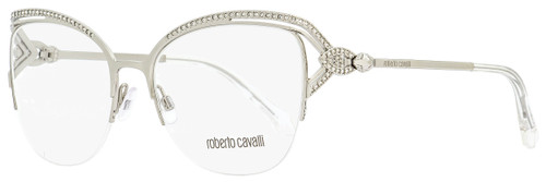 Roberto Cavalli Semi-Rimless Eyeglasses RC5054 Forte 016 Palladium/Clear 53mm 5054