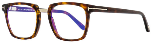 Tom Ford Blue Block Eyeglasses TF5523B 054 Red Havana/Gold 50mm 5523