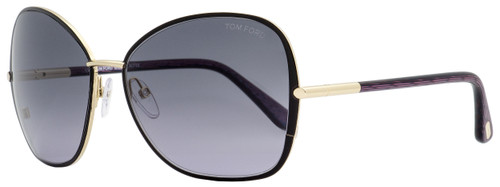 Tom Ford Butterfly Sunglasses TF319 Solange 32B Gold/Iridescent Violet 61mm FT0319