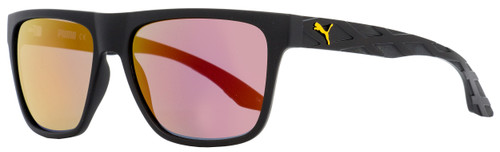 Puma Rectangular Sunglasses PU0008S Exo 600 001 Black 57mm 8