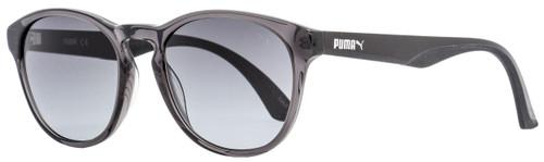 Puma Oval Sunglasses PU0105S 006 Transparent Gray/Black 50mm 105