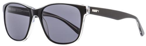 Puma Rectangular Sunglasses PU0152S Gramercy 001 Black/Crystal 55mm 152