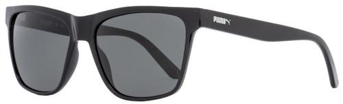 Puma Rectangular Sunglasses PU0168S Hampton 001 Black 57mm 168
