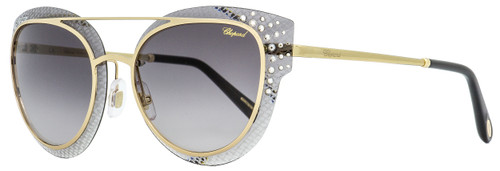 Chopard Oval Sunglasses SCHC42S 0300 Gold/Gray/Black 65mm C42