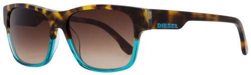 Diesel Rectangular Sunglasses DL0012 89F Tortoise/Turquoise 57mm 12