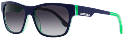 Diesel Rectangular Sunglasses DL0012 92W Blue/Neon Green 57mm 12