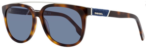 Diesel Rectangular Sunglasses DL0166 53V Blonde Havana  56mm 166