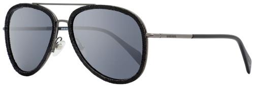 Diesel Aviator Sunglasses DL0167 Denimeye 05C Black/Gunmetal 58mm 167
