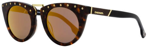 Diesel Cateye Sunglasses DL0211 52X Dark Havana/Black 49mm 211