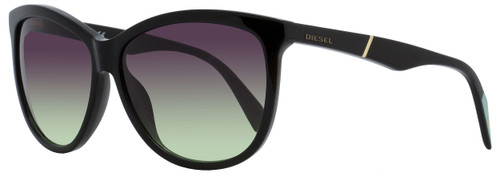 Diesel Oval Sunglasses DL0221 01T Shiny Black   59mm 221